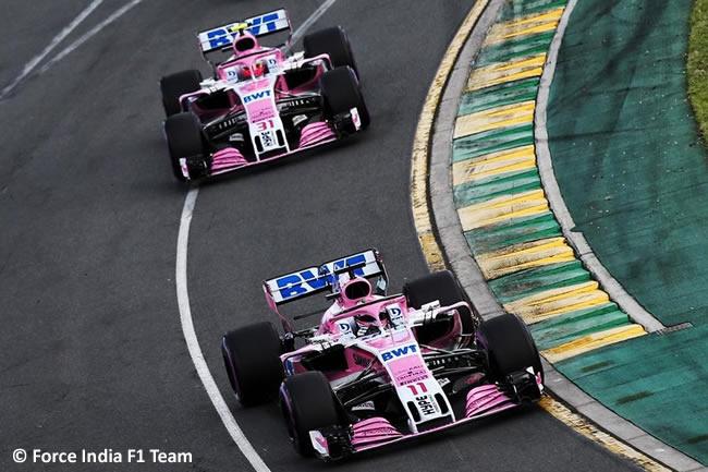 Sergio Pérez - Esteban ocon - Force India - Gran Premio de Australia 2018
