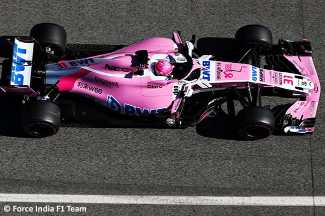 Test Barcelona 2 - Día 2 - Force India - Esteban Ocon