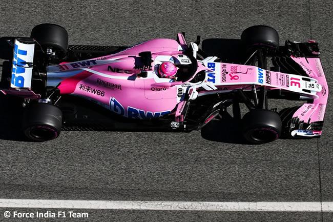 Test Barcelona 2 - Día 2 - Force India - Esteban Ocon