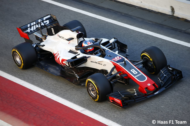 Test Barcelona 2 - Día 2 - Haas - Romain Grosjean