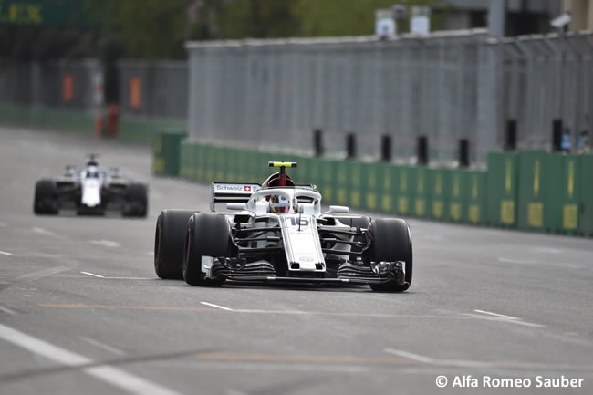 Charles Leclerc - Alfa Romeo Sauber - Carrera - GP - Azerbaiyán, Bakú 2018