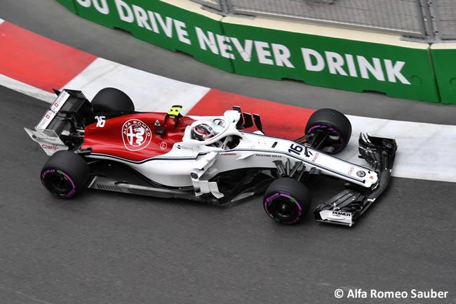 Charles Leclerc - Sauber - Clasificación - GP - Azerbaiyán, Bakú 2018