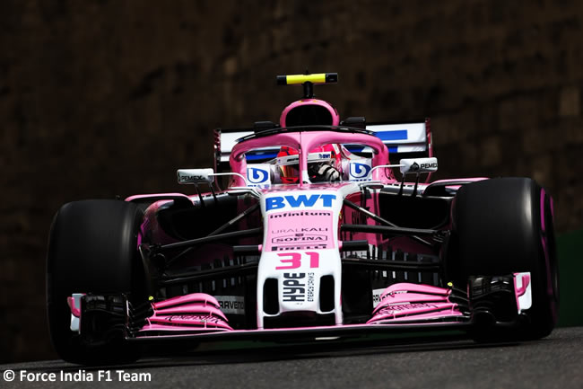 Esteban Ocon - Force India - Clasificación - GP - Azerbaiyán, Bakú 2018