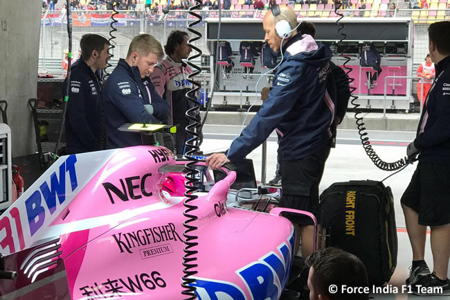Esteban Ocon - Force India- GP China 2018 - Viernes