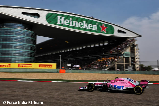 Esteban Ocon - Force India - GP China 2018 - Carrera - Domingo -