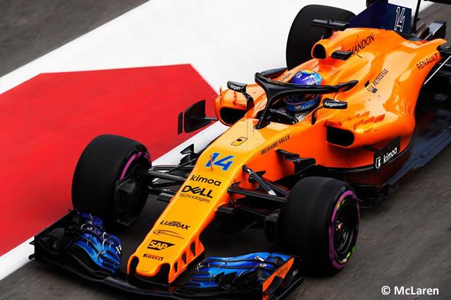 Fernando Alonso - McLaren - Clasificación - GP - Azerbaiyán, Bakú 2018
