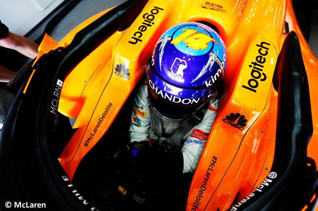 Fernando Alonso - McLaren - Entrenamientos GP - Azerbaiyán, Bakú 2018