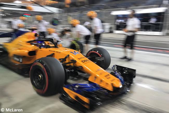 Fernando Alonso - McLaren - GP Bahréin - Viernes - 2018