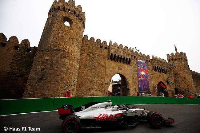 Kevin Magnussen - Haas - Entrenamientos GP - Azerbaiyán, Bakú 2018