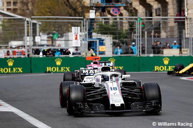 Lance Stroll - Williams - Carrera - GP - Azerbaiyán, Bakú 2018