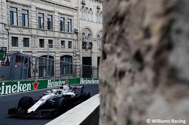 Lance Stroll - Williams - Entrenamientos GP - Azerbaiyán, Bakú 2018