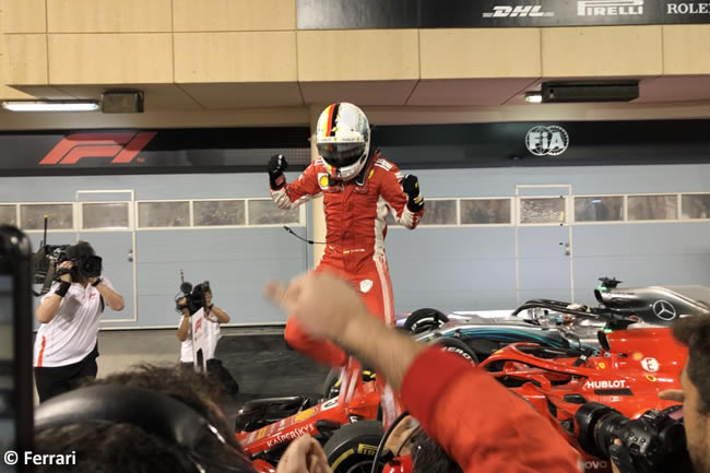 Sebastian Vettel - Scuderia Ferrari - GP Bahréin - Carrera - 2018