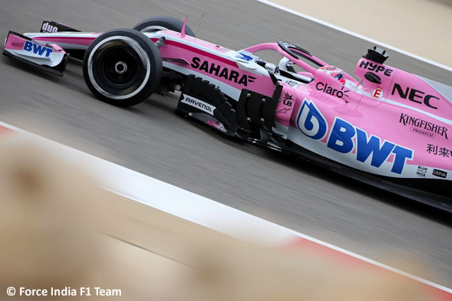 Sergio Pérez - Force India - GP Bahréin - Viernes - 2018