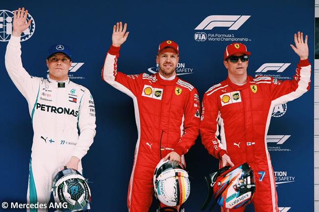 Valtteri Bottas - Sebastian Vettel - Kimi Raikkonen - Mercedes - GP China 2018 - Sábado - Clasificación