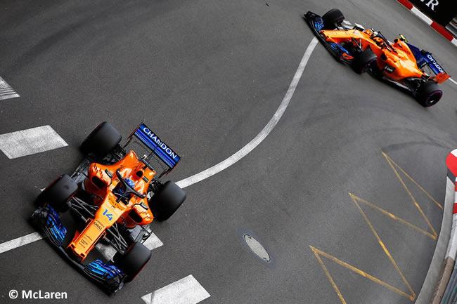 Fernando Alonso- Stoffel Vandoorne - McLaren - Carrera GP - Mónaco 2018