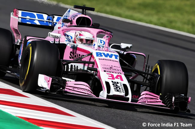 Nicholas Latifi - Force India - Test Temporada 2018 - Día 1