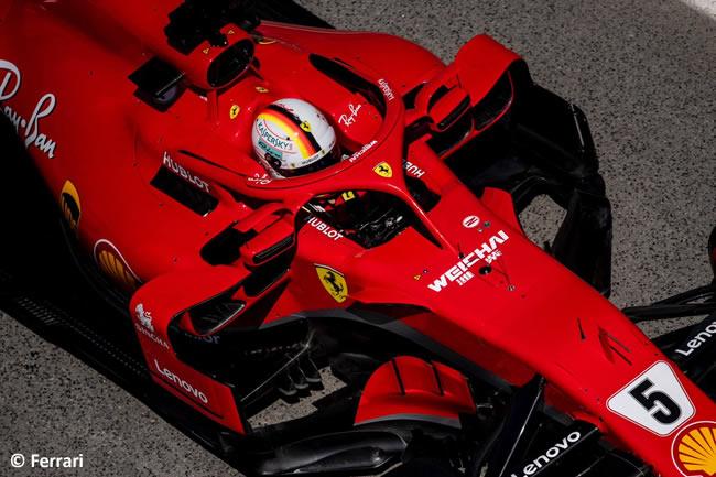 Sebastian Vettel - Scuderia Ferrari - Carrera- GP - España 2018