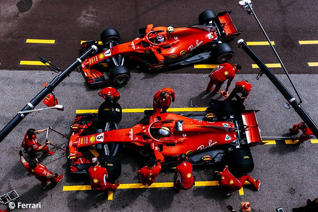 Sebastian Vettel - Kimi Raikkonen - Scuderia Ferrari - GP Mónaco - 2018