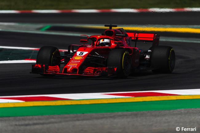 Sebastian Vettel - Scuderia Ferrari - Entrenamientos - Viernes - GP - España 2018