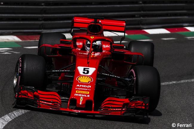 Sebastian Vettel - Scuderia Ferrari - Carrera GP - Mónaco 2018