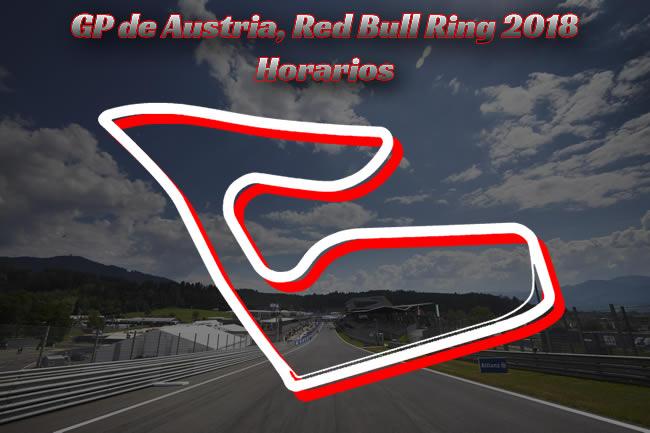 Horarios - Gran Premio de Austria 2018
