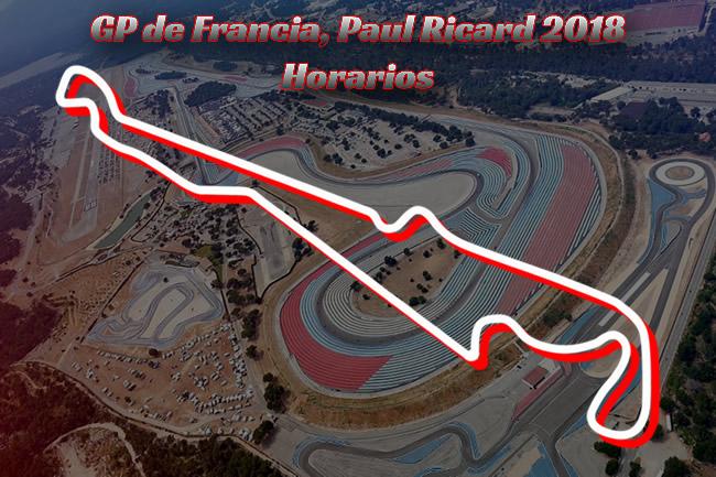 Gran Premio Francia 2018 - Horarios