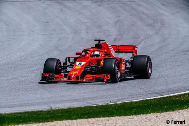 Sebastian Vettel - Scuderia Ferrari - Clasificación - GP Austria 2018