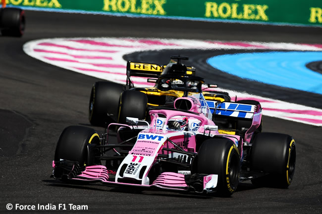 Sergio Pérez - Force India - Carrera GP - Francia 2018