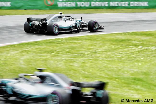 Valtteri Bottas - Lewis Hamilton - Mercedes AMG - Carrera GP - Canadá 2018