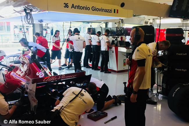 Antonio Giovinazzi - Alfa Romeo Sauber - Entrenamientos GP Hungría 2018