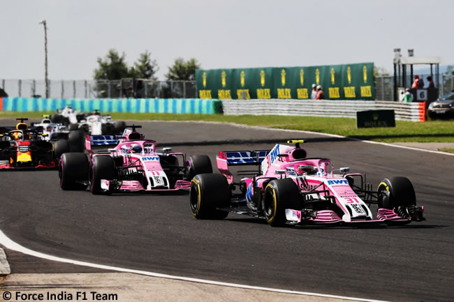 Esteban Ocon - Force India - Carrera GP Hungría 2018