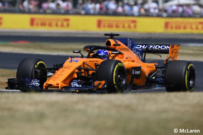 Fernando Alonso - McLaren - GP Gran Bretaña 2018 - Carrera