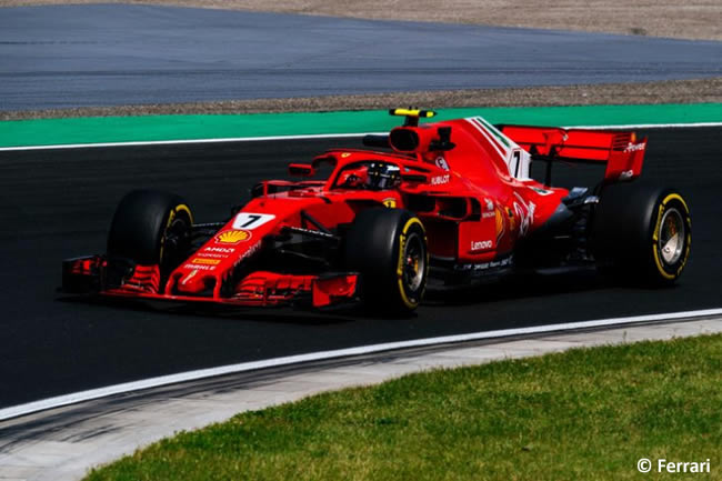 KImi Raikkonen - Scuderia Ferrari - Carrera GP Hungría 2018
