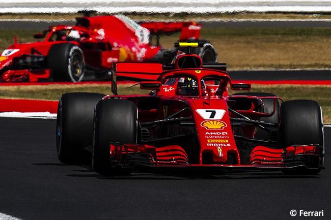 Kimi Raikkonen - Sebastian Vettel - Scuderia Ferrari - GP Gran Bretaña 2018 - Entrenamientos