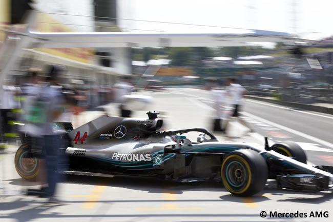 Lewis Hamilton - Mercedes AMG - Entrenamientos GP Hungría 2018