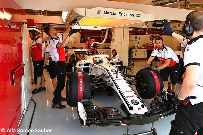 Marcus Ericsson - Sauber - Test Temporada Hungría 2018 - Día 1