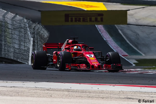 Sebastian Vettel - Scuderia Ferrari - Entrenamientos GP Hungría 2018