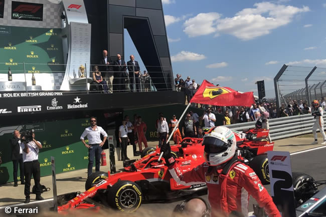 Sebastian Vettel - Scuderia Ferrari - GP Gran Bretaña 2018 - Carrera