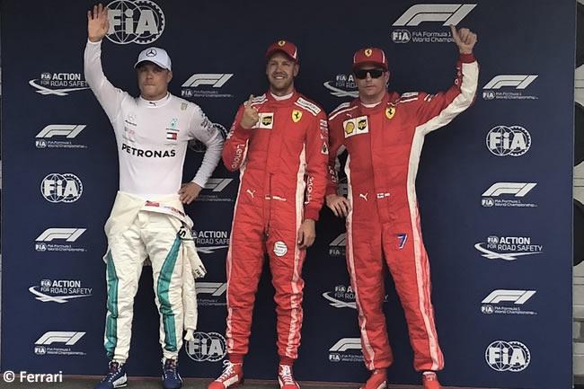 Sebastian Vettel - Valtteri Bottas - Kimi Raikkonen - Scuderia Ferrari - Clasificación - GP Alemania Hockenheim 2018