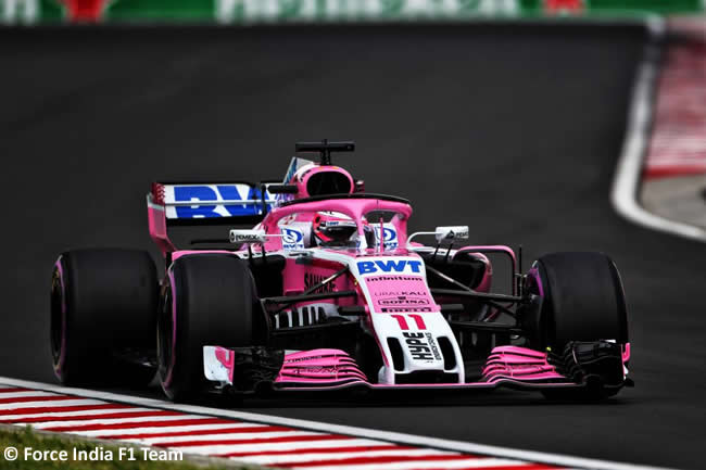 Sergio Pérez - Force India - Clasificación GP Hungría 2018