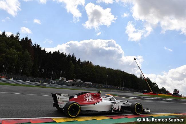 Charles Leclerc- Alfa Romeo Sauber - Entrenamientos Gran Premio Bélgica 2018