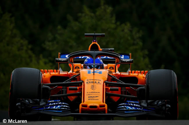 Fernando Alonso - McLaren - Entrenamientos Gran Premio Bélgica 2018