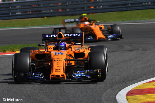 Fernando Alonso - Stoffel Vandoorne - McLaren - Entrenamientos Gran Premio Bélgica 2018