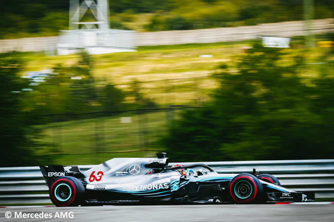 George Russell - Mercedes - Test Temporada Hungría 2018 - Día 2