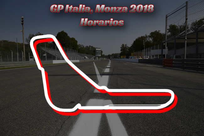 Horarios Gran Premio de Italia 2018