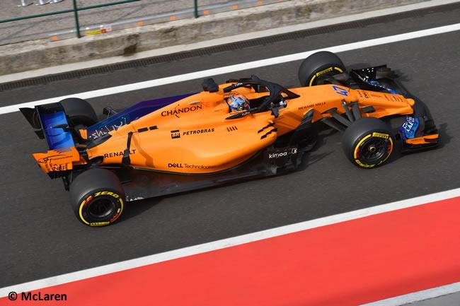 Lando Norris - McLaren - Test Temporada Hungría 2018 - Día 2