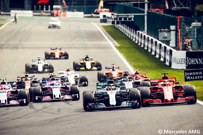 Lewis Hamilton - Mercedes AMG - Carrera Gran Premio Bélgica 2018