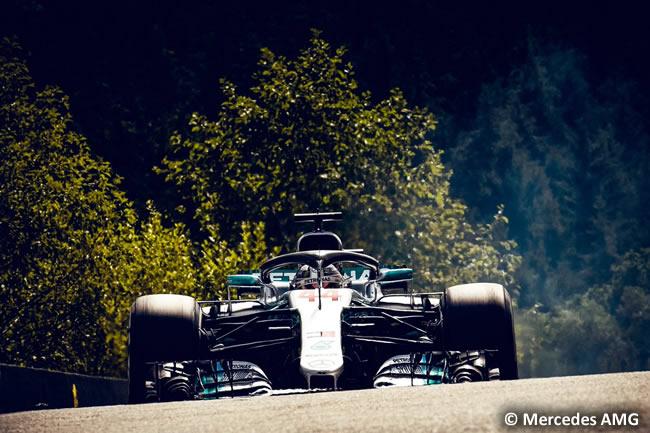 Lewis Hamilton - Mercedes - Entrenamientos Gran Premio Bélgica 2018