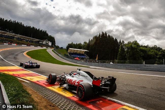 Romain Grosjean - Haas - Entrenamientos Gran Premio Bélgica 2018