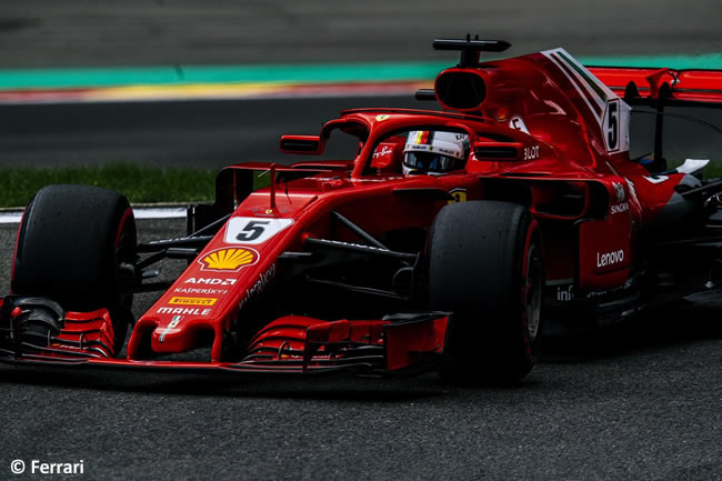 Sebastian Vettel - Scuderia Ferrari - Entrenamientos Gran Premio Bélgica 2018